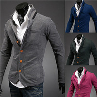 Tri-Pockets Slim Fit Casual Blazer