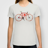 Love Bike, Love Canada T-shirt by Andy Scullion | Society6