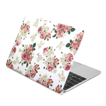 Hard Case Print Frosted (Floral Pattern) for The New MacBook 12 inch with Retina Display