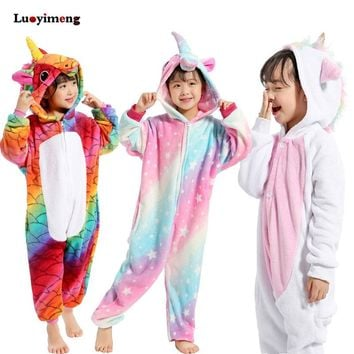 Kigurumi Pajamas For Children Girls Unicorn Anime Panda Onesuit Kids Costume Boy Sleepwear Blanket Jumpsuit Baby Licorne Sleepers