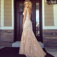 Backless Sexy One Piece Prom Dress