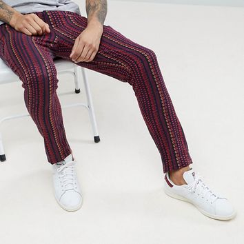 ASOS Tapered Pants In Abstract Design at asos.com