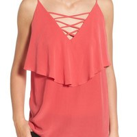 Bailey 44 'Indian Ocean' Lace-Up Silk Camisole | Nordstrom