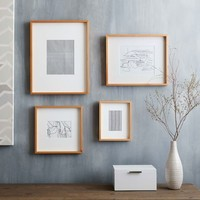 Thin Wood Gallery Frames - Wheat
