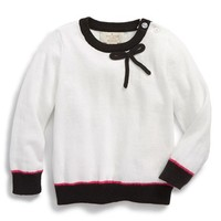 Infant Girl's kate spade new york kids colorblock bow sweater,