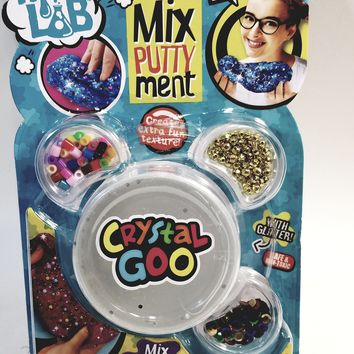 Mad Lab Magical Mixputtyment Clear Crystal Goo 80g Large Plastic Container of Goop & Accessories