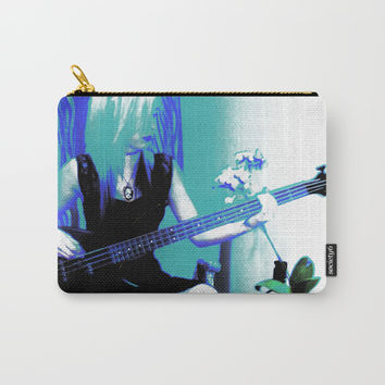 Rock Cameo Bass Guitar Carry-All Pouch by Zurine
