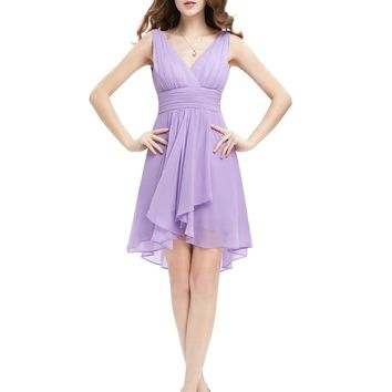 Ruffles Padded V-neck Wedding Bridesmaid Dresses EP03644 2017 New Arrival Vestidos De Festa Vestido