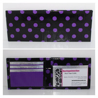 Purple Polka Dot Duct Tape Bifold by Ducttapeinacton on Etsy