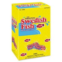 Swedish Fish Grab-and-Go Candy Snacks In Reception Box 240 Pieces/Box