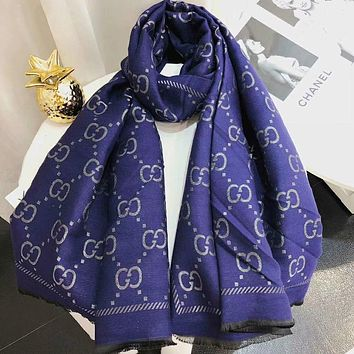 Perfect Gucci Women Silk Scarf Shawl Scarf