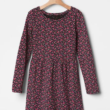 Gap Girls Floral Fit & Flare Jersey Dress