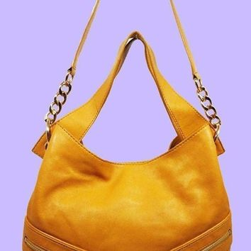 ONETOW MICHAEL Michael Kors JAMESPORT Sun Leather Hobo Shoulder Bag Msrp