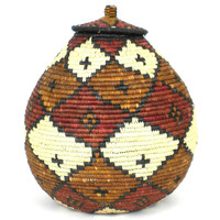 Zulu Wedding Basket -OS-12 - Ilala Weavers