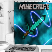 Minecraft Mine Craft shower curtain