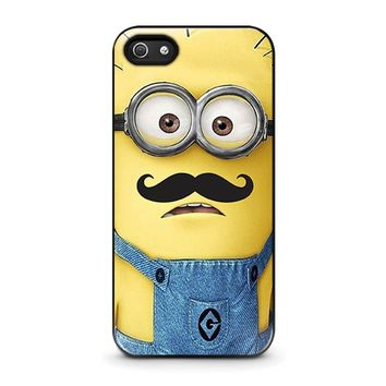 MINIONS WITH MOUSTACHE iPhone 5 / 5S / SE Case Cover