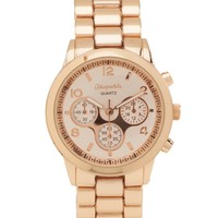 Aeropostale  Metallic Rose Boyfriend Watch