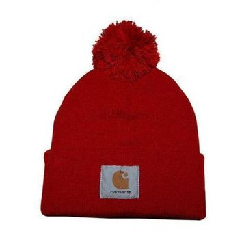 CREYUP0 Carhartt Women Men Embroidery Winter Beanies Knit Hat Cap