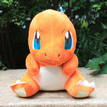 30cm Japanese Cartoon Pokemon Charmander Plush Doll Toy Red Dragon Plush Toys Stuffed Dolls For Xmas Gifts Free Shipping