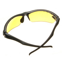 UV 400 Night Vision Driving Riding Glasses Sunglasses Yellow Lens