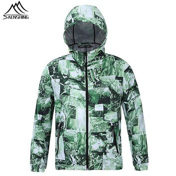Saenshing waterproof jacket men women Skin Rain jacket outdoor windbreaker hunting clothes camping hiking jacket softshell Coat