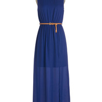 ModCloth Long Sleeveless Maxi Make a Date of It Dress