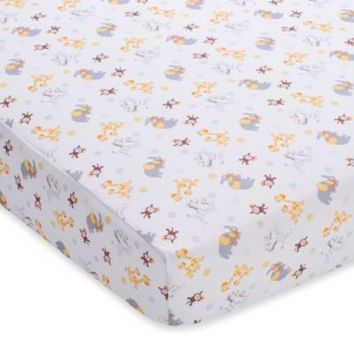 BreathableBaby® Mix & Match Breathable Printed Wick-Dry Crib Sheet in 2 By 2 Safari