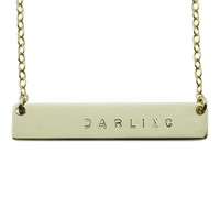 The Name Plate Necklace Darling