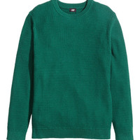 Waffle-knit Sweater - from H&M