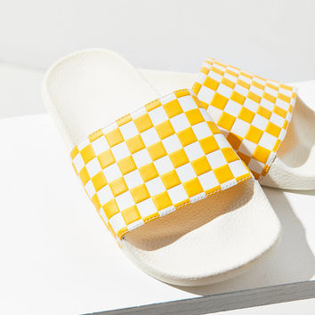 Vans Checkerboard Pool Slide | Urban Outfitters