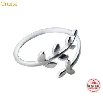 Trusta 2018 New 100% 925 Sterling Silver Fashion Women Cute Branch Rings Size 5 6 7 Wonderful Gift For Girls Teen Lady  DS555