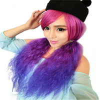 Pink Purple Custume Wig
