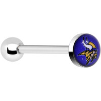 Officially Licensed NFL Minnesota Vikings Barbell Tongue Ring | Body Candy Body Jewelry