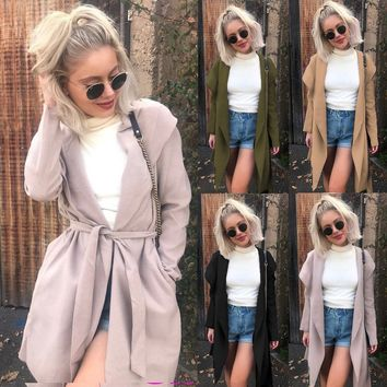 New line of slim, medium length trench coats is selling well for women