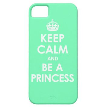 Mint Keep Calm & Be a Princess iPhone 5 Case from Zazzle.com