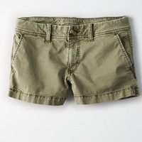 AE Khaki Shortie, Washed Olive