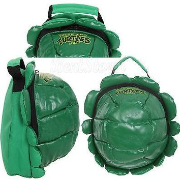 Licensed cool Teenage Mutant Ninja Turtles Green Shell Cooler Lunch Box Tote Bag Purse School