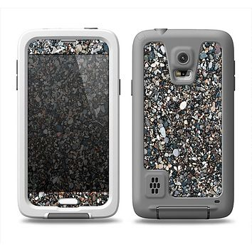 The Small Dark Pebbles Samsung Galaxy S5 LifeProof Fre Case Skin Set