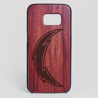 San Diego Chargers Galaxy S7 Edge Case - All Wood Everything