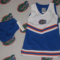 NEW FLORIDA GATOR 2T CHEER DRESS SARA LYNN TOGS CUTE! ORANGE AND BLUE