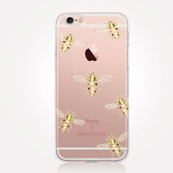Transparent Bee iPhone Case - Transparent Case - Clear Case - Transparent iPhone 6 - Samsung S7