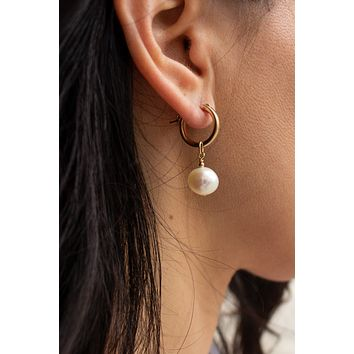 Baroque Mini Hoop Earrings - Christine Elizabeth Jewelry