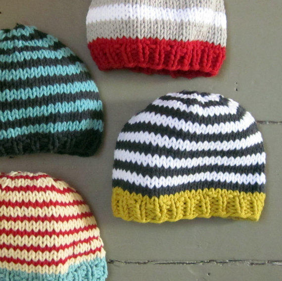 Baby Boy Hat Knitting Pattern : Knit Baby Boys Hat cotton goldenrod with from ...