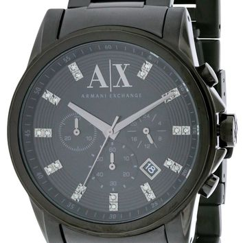 Armani Exchange Black Ion Stainless Steel Chronograph Watch AX2093