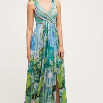 Blank Ocean Isle Maxi Dress in Blue Motif Size: