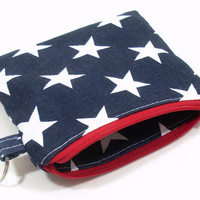 Coin Purse in Red White and Blue