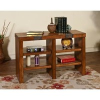 Sunny Designs Walnut Creek Sofa Console Table In Rustic Walnut Weathered
