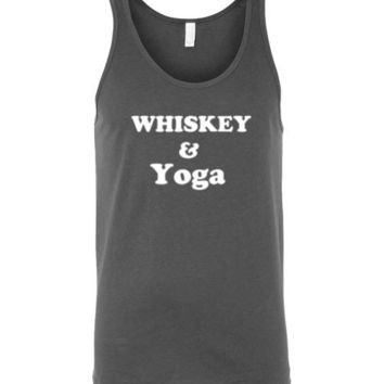 Whiskey and Yoga Unisex Tank Top