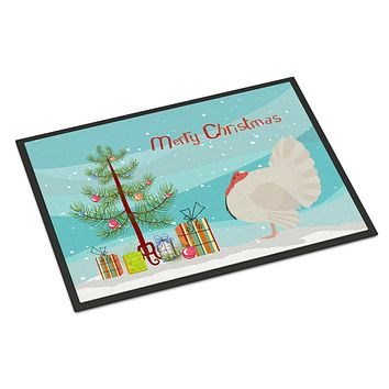 White Holland Turkey Christmas Indoor or Outdoor Mat 24x36 BB9350JMAT