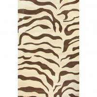 nuLOOM Safari Zebra Brown Contemporary Rug - D302ZEBBRN - Animal Print Rugs - Area Rugs by Style - Area Rugs